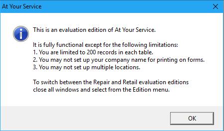 Evaluation Edition Notice