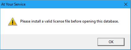 Install Valid License
