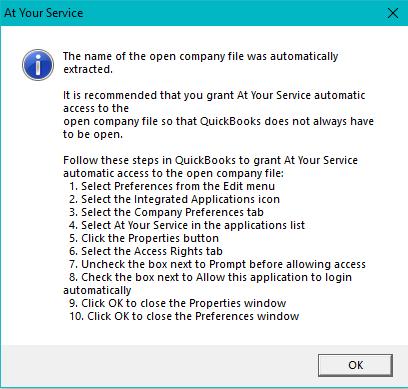 Setup QuickBooks Application Security
