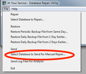 Select_Database_for_Manual_Repair