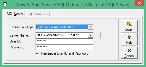 Login to the SQL Server