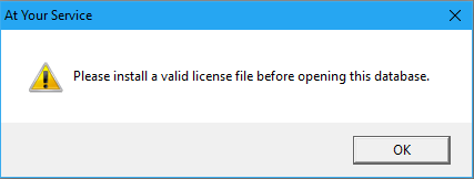 Install Valid License