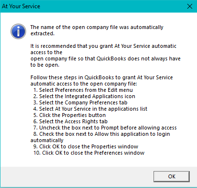 Setup QuickBooks Application Security