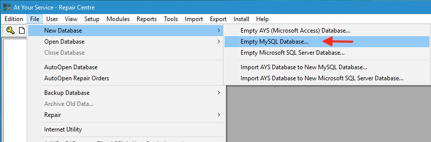 auto repair mysql database